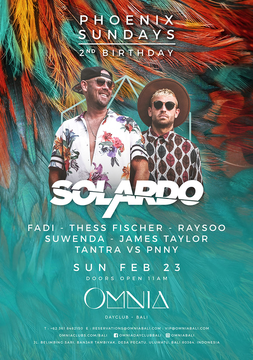 OMNIA PRESENTS: PHOENIX SUNDAY 2ND BIRTHDAY X SOLARDO thumbnail image